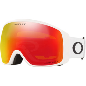 Oakley Flight Tracker XL Lunettes de ski Homme, matte white/prizm snow torch